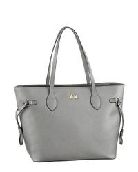silberne Shopper Tasche aus Leder von La Martina