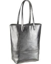 silberne Shopper Tasche aus Leder von Liebeskind Berlin