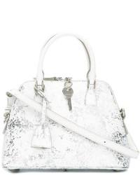silberne Shopper Tasche aus Leder von Maison Margiela