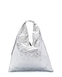 silberne Shopper Tasche aus Leder von MM6 MAISON MARGIELA
