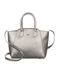 silberne Shopper Tasche aus Leder von Roxy