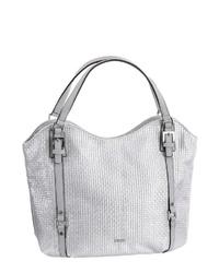 silberne Shopper Tasche aus Leder von Tamaris