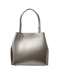 silberne Shopper Tasche aus Leder von Usha