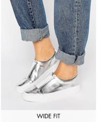 silberne Slip-On Sneakers von Asos