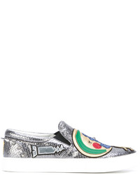 silberne Slip-On Sneakers von Marc Jacobs