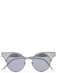 silberne Sonnenbrille von Bottega Veneta