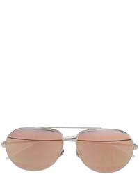 silberne Sonnenbrille von Christian Dior