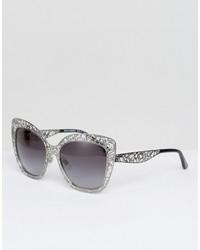 silberne Sonnenbrille von Dolce & Gabbana