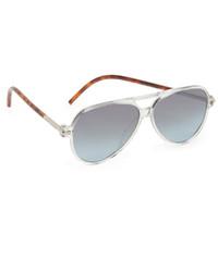 silberne Sonnenbrille von Marc Jacobs