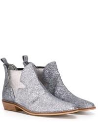silberne Stiefel von Stella McCartney