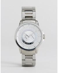 silberne Uhr von Armani Exchange
