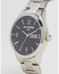 silberne Uhr von Ben Sherman