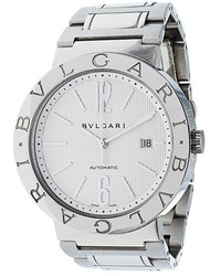 silberne Uhr von Bulgari
