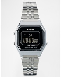 Silberne Uhr von Casio