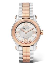 silberne Uhr von Chopard