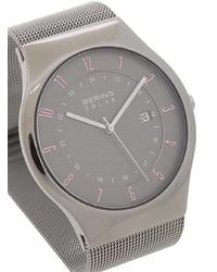 silberne Uhr von BERING