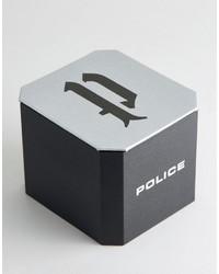 silberne Uhr von Police
