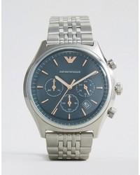 silberne Uhr von Emporio Armani