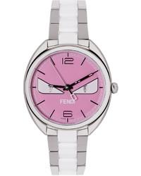silberne Uhr von Fendi