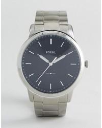 silberne Uhr von Fossil