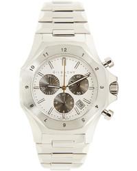 silberne Uhr von Givenchy