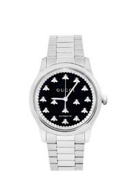 silberne Uhr von Gucci