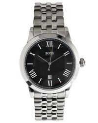 silberne Uhr von Hugo Boss