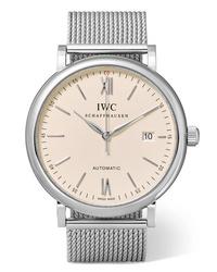silberne Uhr von IWC SCHAFFHAUSEN