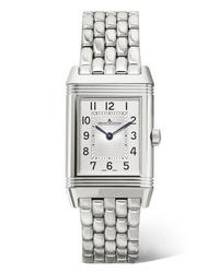 silberne Uhr von Jaeger-LeCoultre