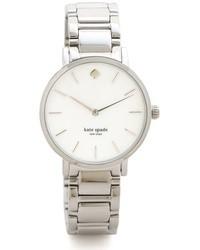 silberne Uhr von Kate Spade