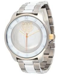 silberne Uhr von Kenzo