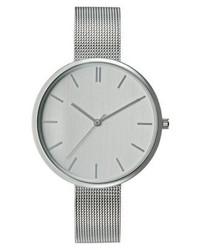 silberne Uhr von KIOMI
