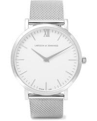 silberne Uhr von Larsson & Jennings