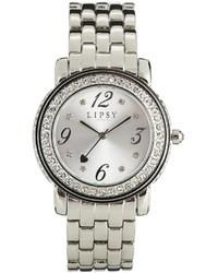 silberne Uhr von Lipsy