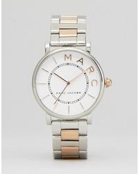 silberne Uhr von Marc Jacobs