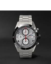 silberne Uhr von Montblanc