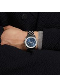 silberne Uhr von Breitling