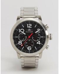 silberne Uhr von Tommy Hilfiger