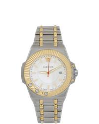 silberne Uhr von Versace