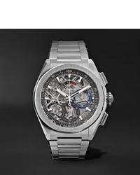 silberne Uhr von Zenith
