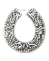 silberne verziert mit Perlen Halskette