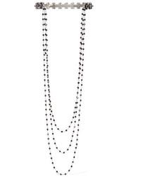 silberne Perlen Halskette von Marc Jacobs