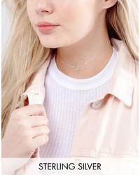 silberne verzierte enge Halskette