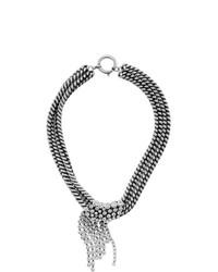 silberne verzierte enge Halskette von Isabel Marant