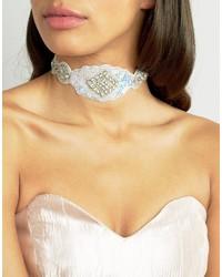 silberne verzierte enge Halskette von True Decadence