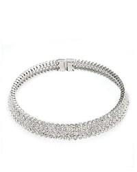 silberne verzierte Halskette