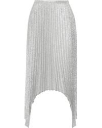 silberner Midirock mit Falten von Emilio Pucci