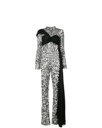 silberner Jumpsuit aus Paillette von Moschino