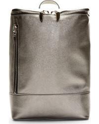 silberner Leder Rucksack von Giuseppe Zanotti
