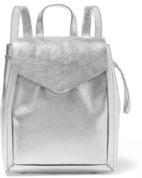 silberner Leder Rucksack von Loeffler Randall